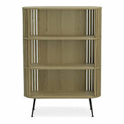 Moeand039s Home Mid-century Modern Henrich Oak Bookshelf With Natural Yc-1024-24