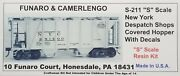 Funaro Fandc S-211 211 New York Central Covered Hopper Nyc Despatch Shops S-scale