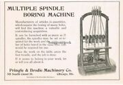 1915 Pringle And Brodie Machinery Co. Boring Machine Woodworking Vintage Ad