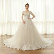 Ball Gown Wedding Dress Princess Sweetheart Flowers Sequined Crystal Lace Up New
