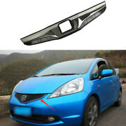 Chrome Front Upper Bumper Mesh Grill Grille 1pcs For Honda Fit Jazz 2008-2013