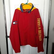 Vintage 1990 Red Yellow And Blue Jacket Xl