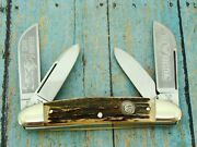 Bertram Hen Rooster Germany 224ds Coon Hunter Stag Jumbo Tobacco Congress Knife