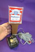 Rare Lighted Budweiser Beer Tap Keg Handle Lucite/acrylic Sign Knob+cord Mancave