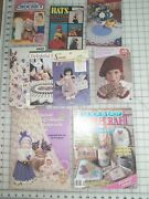 9 Crochet Pattern Books Hats Doll Clothes Animals Coasters Doilies Flowers