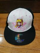 Sailor Moon Love And Justice Snapback Hat Cap W Sticker Offically Licensed Rare