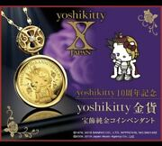 Includes Shipping Yoshikitty Gold Coin Jewelry Pure Pendant Yoshikiti Forever