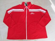 New Lacoste X Ricky Regal Pique Zip Track Jacket Mens Xxl Red/white Bruno Mars