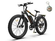Electric Mountain Bicycle 48v 750w 26 Fat Tire Lithium Ion E-bike 21 Speed