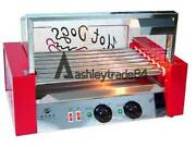 Temperature Control Commercial 7 Roller Hot Dog Grill Cooker Machine 220v