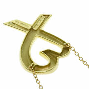 And Co. Loving Heart Necklace K18 Yellow Gold Women And039s Co. No.5793