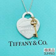 And Co. Pole Return To Heart Key Necklace Ag925 Free Shipping No.5975