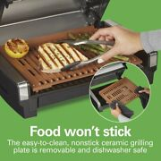 Indoor Bbq Grill With Ceramic Grids Easy Cooking And Cleaning