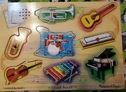 Musical Instruments Sound Puzzle 8pc Wooden Tray Melissa And Doug