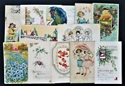 Lot Antique 14pc Birthday Easter Christmas Postcards Nottingham Pa Coates Family