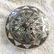Antique Flower Frog Silver Plate
