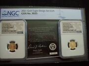 2021 1/10 Ounce Gold Eagle Design Set Certified Pf 70 Ultra Cameo By Ngc Wow