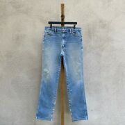 Vintage Wrangler 936pwd Slim Fit Straight Worn And Faded Denim Jeans Fits 35 X 35