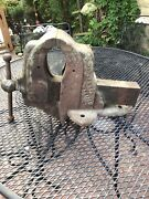 """Vintage Chas. Parker Bench Vise No. 88 1/2 With 4-3/4"""" Jaws Pick Up Only"""