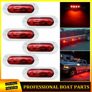 6x 3.9red 4 Led Clearance Side Marker Lights For Car Truck Trailer Pickup Rv