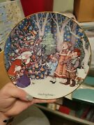 Mary Engelbreit The Wonders Of Christmas Limited Plate Santa And Children 1992