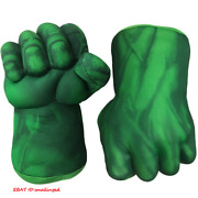Avengers Hulk Hands Kid's Boxing Gloves Smash Fists Roleplay Costume Plush Gifts
