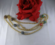 Gorgeous Joan Rivers Colorful Gold Tone Egg 46 Necklace Cat Rescue