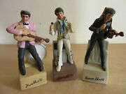 3 Vintage Elvis Mccormick Whiskey Decanters 7.5 Forever 68 Yours 55 Sincerely 77