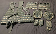 New Usgi Us Molle Digital Camo Flc Fighting Load Carrier 7 Pouches