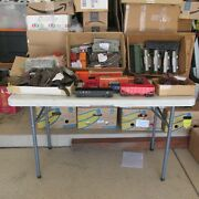 Large Lot Of Vintage Lionel O-gauge Track, Trains, Switches And Buildings