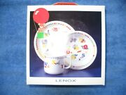 Lenox Teacher's Pets 3 Piece China Set With The Alphabet For Young Children