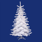 Vickerman 14and039 Pre-lit Crystal White Artificial Christmas Tree - Clear Lights