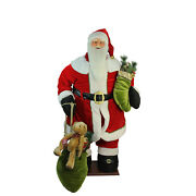 Northlight 5and039 Life-size Animated Musical Inflatable Santa Claus Christmas Figure
