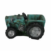 Northlight 12.25in Distressed Teal And Black Tractor Outdoor Garden Patio Planter