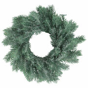 Northlight 12 Traditional Frosted Green Pine Decorative Christmas Wreath