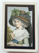 Antique Playing Cards Goodall Wide Art Nouveau Pretty Female 52 And 1j 1895 - 98