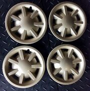 """Set Of 4 Used Gold 8"""" Hubcaps For E-z-go, Club Car, Or Yamaha Golf Cart"""