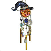 Kirks Folly Practical Magic Seaview Water Moon Witch Wind Chime Multi Color