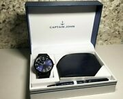 Captain John Gift Nautical Adventure Watch And Wallet And Pen Set
