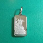 Liberty Coin Pt999.5 Pure Platinum 20g Ingot Statue Of Pendant Top With 850