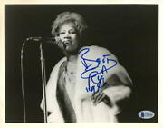 Aretha Franklin Signed Autograph 8x10 Photo - The Queen Of Soul, Very Rare Bas
