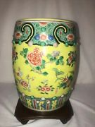 Chinese Antique Hand Painted Garden Stool