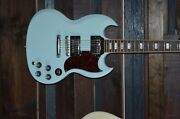 Gibson Sg Cme Edition Ice Frost Blue 2018 Rare With Soft Case Rock Metal Punk