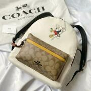 Coach X Disney 2020 Japan Limited Backpack Rope Climb Mickey Ship From Jpn F/s