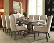 Acme Landon Dining Table In Salvage Brown Finish 60737