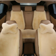 Plush Car Seat Cover Set Fur Front Rear Back Chair Cushion Protector Warm Winter