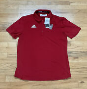 Menand039s Nc State Wolfpack Adidas Coaches Sideline Tech Polo Ge1763 Medium Nwt 75