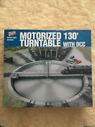 New Walthers Cornerstone Series Ho Train Railroad Motorized 130and039 Turntable W/dcc