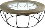 Cyan Design Crater Coffee Table Cocktail Farmhouse Country Noir Clear Blac