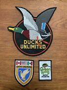 Ducks Unlimited Jacket Patches Lot Of 3 Mallard Duck Vintage/new